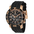 TW Steel Men's 'Grandeur Diver' Stainless Steel Black Dial Chronograph Watch