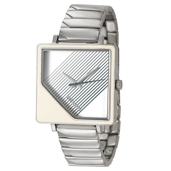 Nixon Women's 'The Metric' Stainless Steel Square Dial Watch