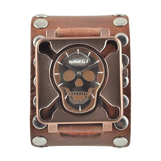 Nemesis Men's 'Crossbones' Leather Strap Watch