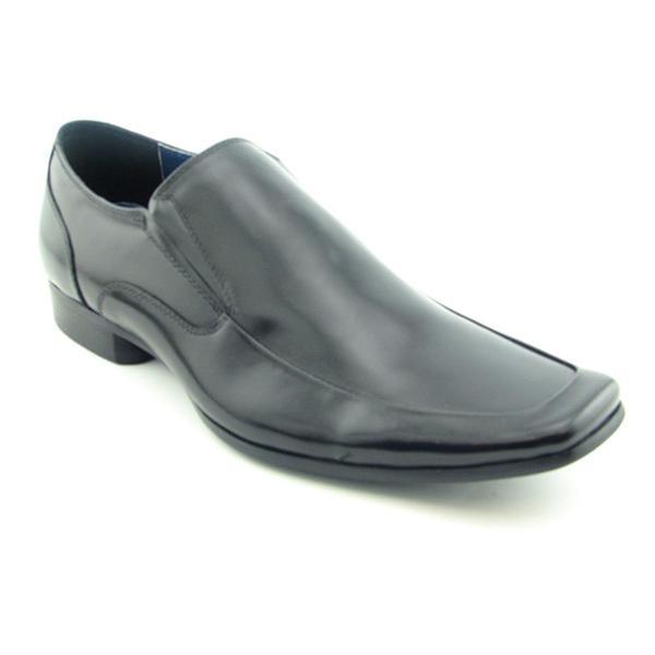 Steve Madden Men's Black 'Romen' Leather Casual Shoes