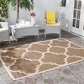 Safavieh Indoor/ Outdoor Courtyard Brown Rug (2'7 x 5')