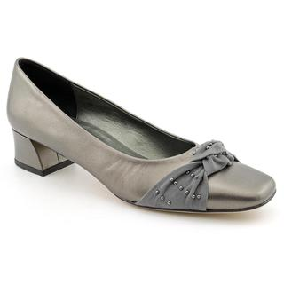 Vaneli Women's 'Dalice' Gray Leather Dress Shoes - Narrow