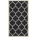 Safavieh Indoor/ Outdoor Courtyard Black/ Beige Rug (2' x 3'7)