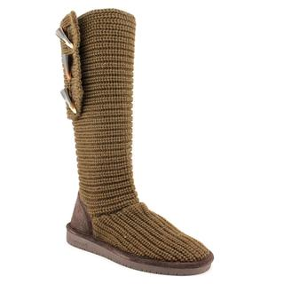 Brown Bear Paw Knit Boots