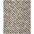 Safavieh Hand-woven Studio Leather Brown/ Ivory Leather Rug (8' x 10')