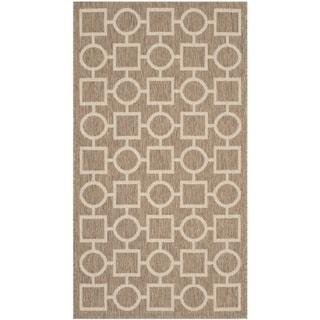 Safavieh Indoor/ Outdoor Courtyard Brown/ Bone Rug (2' x 3'7)