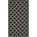 Safavieh Contemporary Indoor/ Outdoor Courtyard Black/ Beige Rug (2'7 x 5')