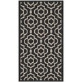 Safavieh Indoor/ Outdoor Courtyard Black/ Beige Rug (2'7 x 5')