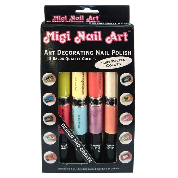 Migi Art Nail Polish and Pen Duo Pastel Color Set