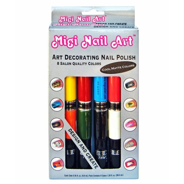 Migi Art Nail Polish and Pen Duo Matte Color Set