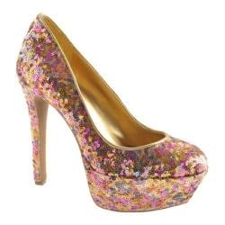 Women's Jessica Simpson Devin 2 Golden Rose Sparkle Fabric