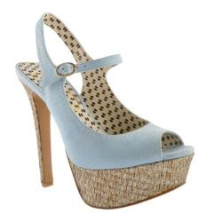 Women's Jessica Simpson Eddy Powder Blue Kidsuede