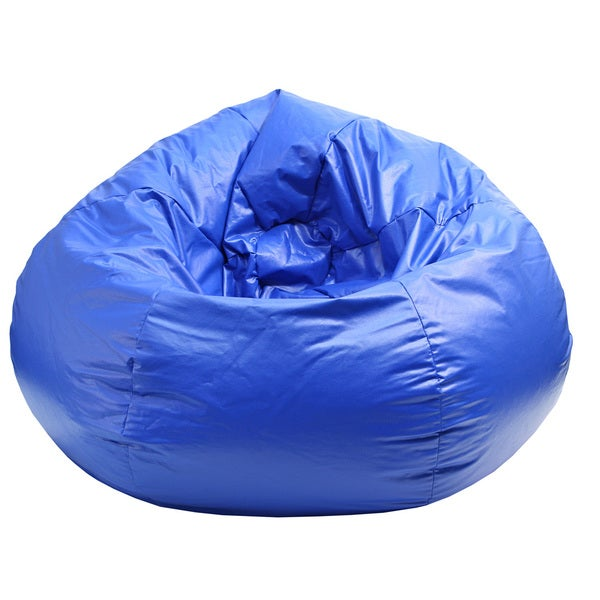 Extra Large Wet Look Nautical Blue Vinyl Bean Bag