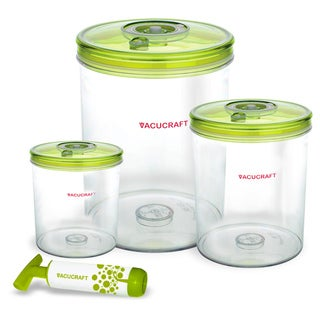 Vacucraft 4-piece Vacuum Seal Food Canister Set