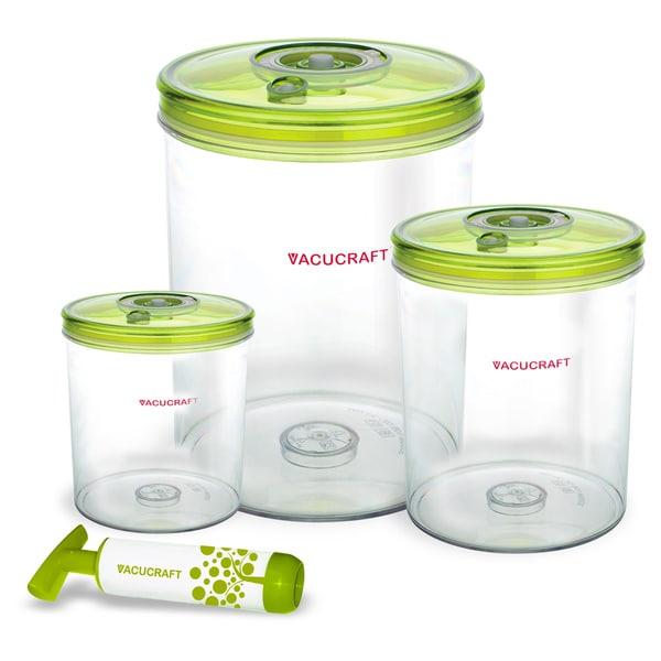 Vacucraft 4-piece Vacuum Seal Food Storage Set