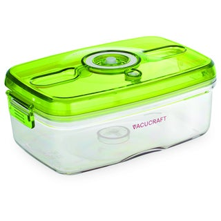 Vacucraft 1-liter Rectangular Vacuum Seal Food Container