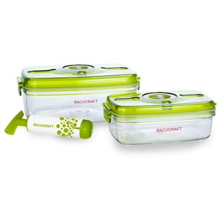 Vacucraft 3-piece Vacuum Seal Food Canister Set