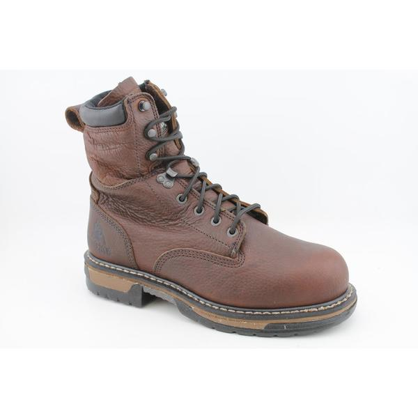 "Rocky Work Men's '6693 IronClad 8"" Steel Toe' Leather Boots (Size 8 )"