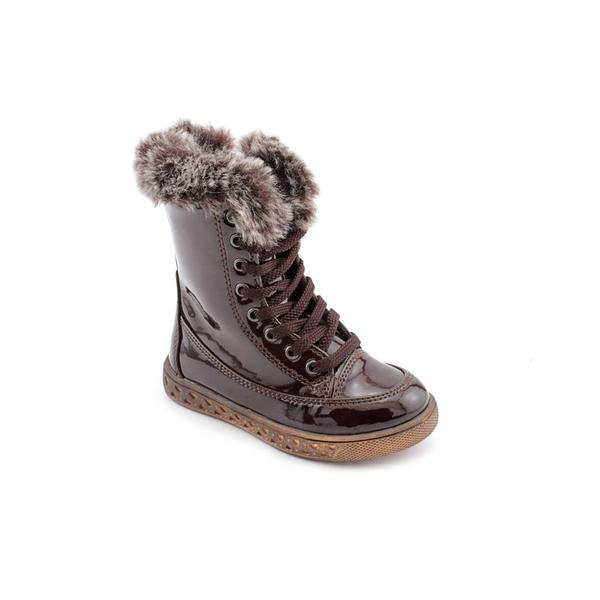 Kamik Girl Youth 'Raven' Patent Leather Boots (Size 8 )
