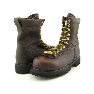 "Georgia Men's '8"" Low-Heel Logger' Leather Boots - Wide (Size 10 )"