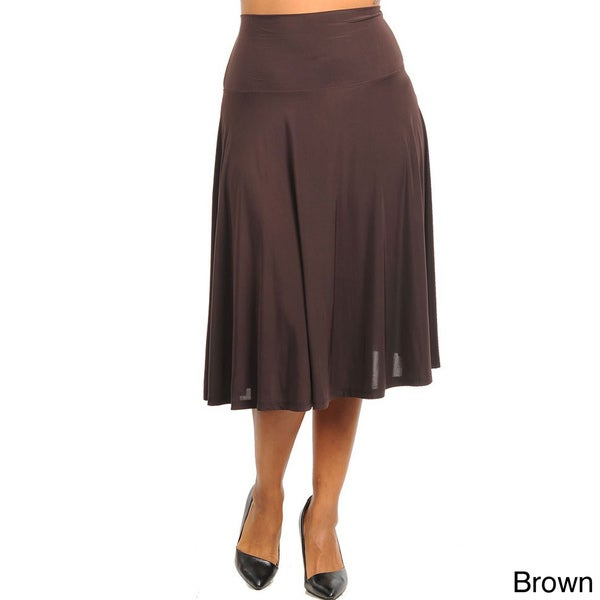 stanzino s plus high waist mid length skirt