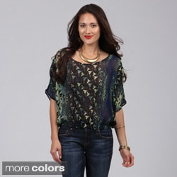 Derek Heart Juniors Abstract Print Top