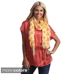 Cashmere Showroom Women's Two-tone Diamond Print Scarf