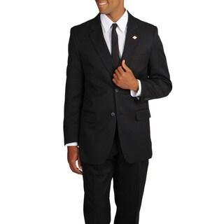 Stacy Adams Men's Solid Black 3-piece Suit