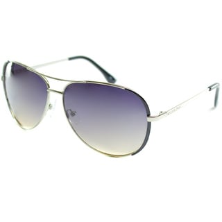 Michael by Michael Kors Women's 'Sicily' Silver Metal Aviator Sunglasses