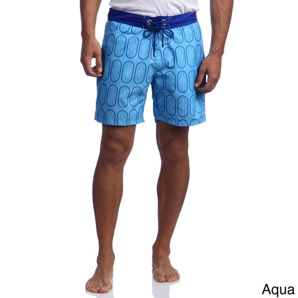 Mr.Swim Men's Oval Print Swim Trunks