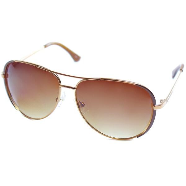 Michael by Michael Kors Women's 'Sicily' Rose Gold Metal Aviator Sunglasses