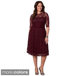Kiyonna Women's Plus Size 'Luna' Lace Dress