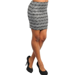Stanzino Women's Silver Sequin Patterned Bandage Skirt