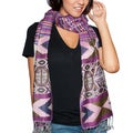 Purple Haze Ikat Shawl (India)