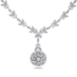 Miadora 14k White Gold 6 3/8ct TDW Diamond Necklace (G-H, SI1-SI2)