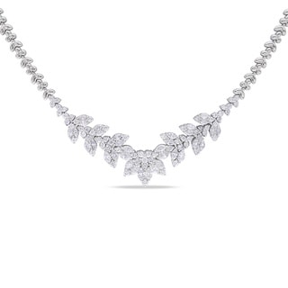 Miadora 14k White Gold 5 2/5ct TDW Diamond Necklace (G-H, SI1-SI2)