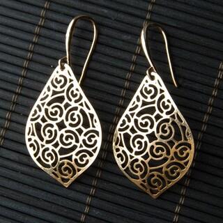 Goldplated Teardrop Earrings (China)