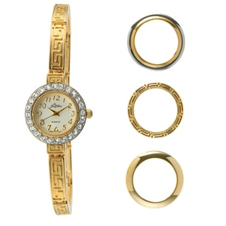 Pierre Jacquard Goldtone 4-piece Interchangeable Bezel Watch
