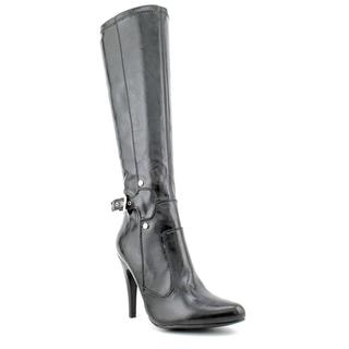Marc Fisher Women's Black 'Sunshine4' Faux-Leather Pointed-Toe Boots