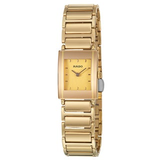 Rado Women's 'Integral' Yellow Gold PVD Coated Swiss Quartz Watch