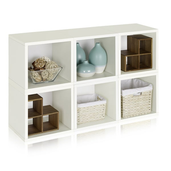 6 Modular Eco-friendly zBoard Storage Cubes and Stackable Organizer