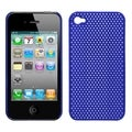 BasAcc Titanium Dark Blue Lattice Back Case for Apple iPhone 4/ 4S