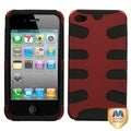 BasAcc Titanium Red/ Black Fishbone Case for Apple iPhone 4/ 4S