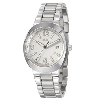 Rado Men's 'D-Star' Ceramos Silvertone Swiss Quartz Watch