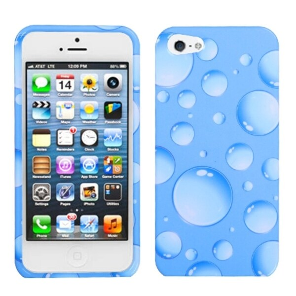 INSTEN Blue Bigger Bubbles Phone Protector Phone Case Cover for Apple iPhone 5