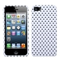 BasAcc White Vintage Heart Dots Phone Case for Apple iPhone 5