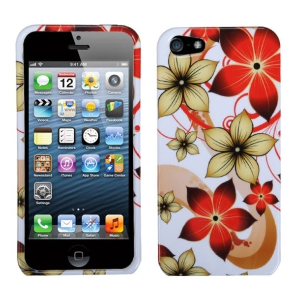 INSTEN Hibiscus Flower Romance Phone Case Cover for Apple iPhone 5