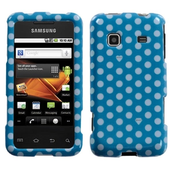 INSTEN Blue/ White Dots Phone Case Cover for Samsung M820 Galaxy Prevail