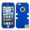 BasAcc Titanium Dark Blue/ White Tuff Hybrid Case for Apple iPhone 5