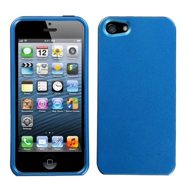 INSTEN Solid Azure Blue Phone Protector Phone Case Cover for Apple iPhone 5